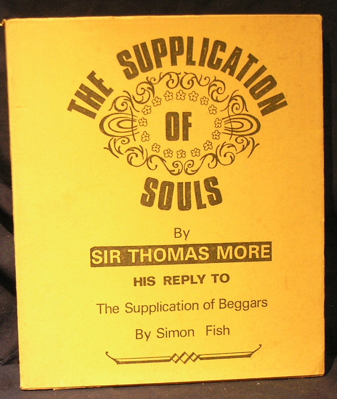 Image for The Supplication of Souls His reply to the Supplication of Beggars